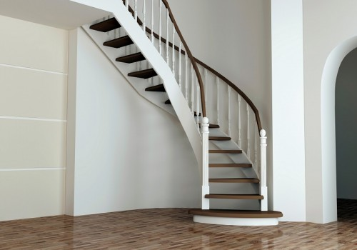 Staircase in luxury interior, entrance hall.